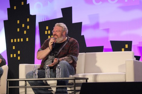 Game of Thrones' Kristian Nairn speaks at Alamo City Comic Con about Jon Snow, Hodor, his DJing, and embarrassing moments.