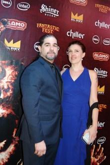 """Bone Tomahawk"" director S. Craig Zahler and his girlfriend / Photo by ChinLin Pan"