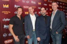 From left to right: Patrick Wilson, Richard Jenkins, S. Craig Zahler, and Matthew Fox / Photo by ChinLin Pan