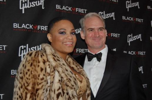 Tameca Jones and Black Fret co-founder Matt Ott