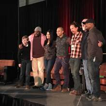 """The Walking Dead"" stars listen to a fan's question at their panel on Saturday, Jan. 23 at Terror Expo. / Photo by Catherine Gutierrez"