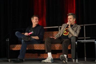 "William Zabka and Martin Kove at their ""Cobra Kai"" panel / Photo by Parker Conley"
