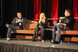 """Sharknado"" stars Tara Reid and Ian Ziering speak at their panel on Saturday, Jan. 23 at Terror Expo in San Antonio. / Photo by Victor Gutierrez"