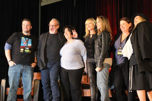 """Nightmare on Elm Street"" stars post for the camera after their panel ended. / Photo by Victor Gutierrez"