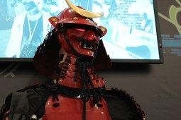 This AI Samurai is able to answer and ask any question. / Photo by Dana Summers
