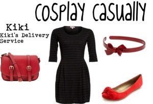 Here's an example of an outfit for closet cosplay. This could be clothes that you could find in your closet and wear and channel Kiki from Kiki's Delivery Service. Photo by Tumblr user CosplayCasually.