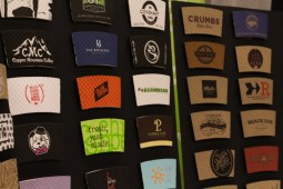 Java Jacket had some really cool coffee sleeves.