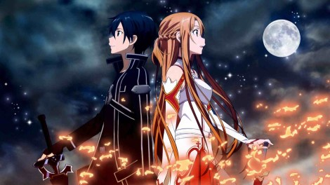 "Kirito and Asuna in season 1 of ""Sword Art Online"" / Image courtesy of A-1 Pictures and Aniplex USA"