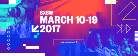 SXSW 2017 homepage screenshot