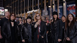 "X Japan stands outside Madison Square Garden prior to their concert in Drafthouse Films' ""We Are X."" / Courtesy of Drafthouse Films"