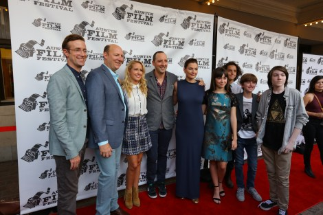 "The cast of ""Brave New Jersey"" at the Austin Film Festival premiere. / Photo by Parker Conley"