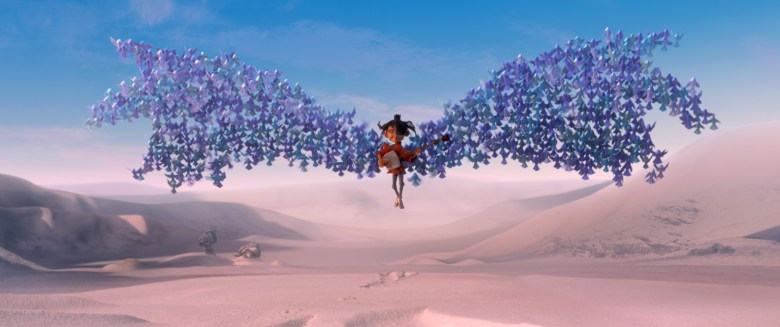 1700.0180.still.laika.0002 Kubo (voiced by Art Parkinson) is swept up by origami wings in animation studio LAIKA's epic action-adventure KUBO AND THE TWO STRINGS, a Focus Features release. Credit: Laika Studios/Focus Features