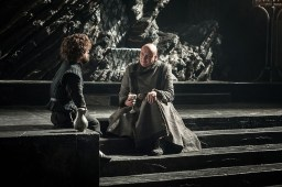Tyrion (Peter Dinklage), Varys (Conleth Hill) | Photo by Helen Sloan/HBO