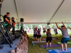 Morning Yoga with Christie Workman and music by The Anjaila Project