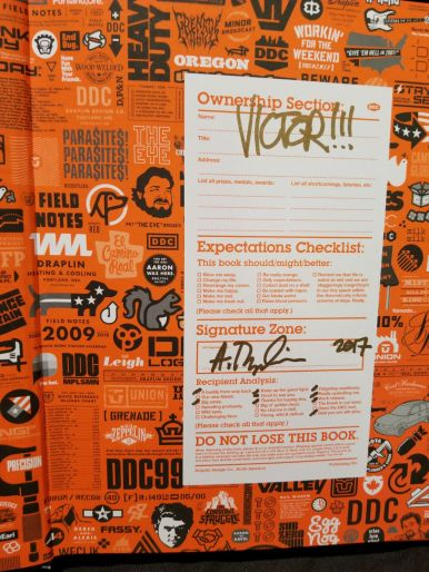 Autographs from Aaron Draplin