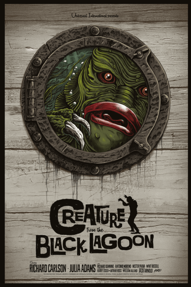 Creature From The Black Lagoon by Gary Pullin | Photo courtesy of Mondo