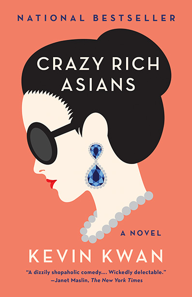 "Novel cover of ""Crazy Rich Asians"" by Kevin Kwan"