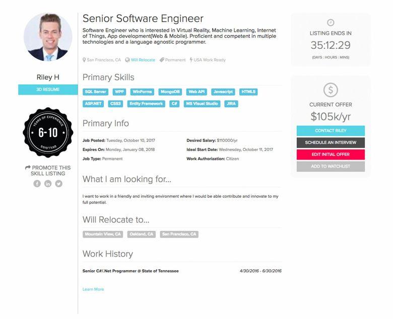Skillgigs Resume