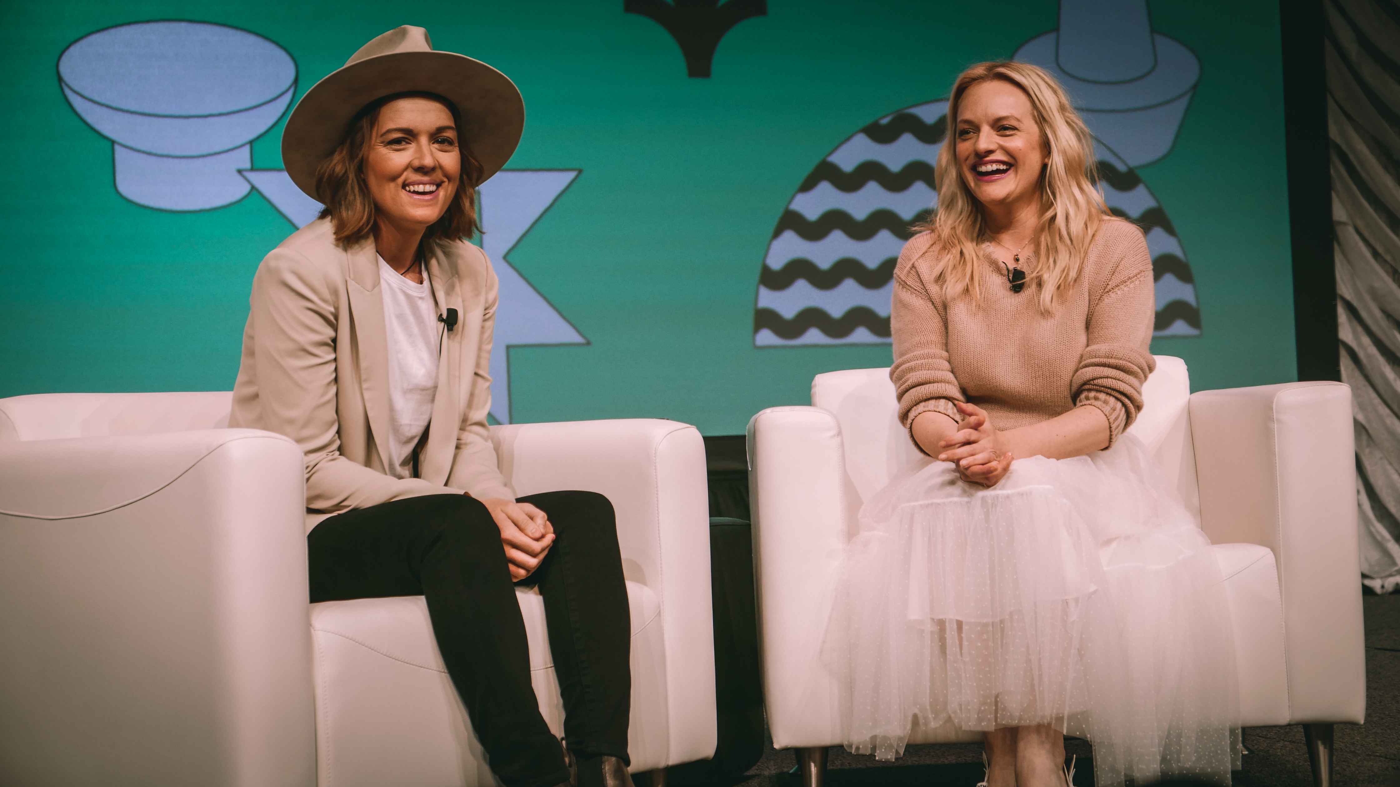 Brandi Carlile and Elisabeth Moss at SXSW