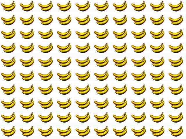 バナナ柄 パターン素材 背景