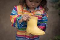 子供の長靴 名前 かけるシール 100均
