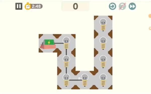 シンクシンク「ひとふででんきゅう」のプレイ画面