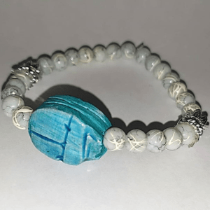 Handmade bracelet الجعران .. حجر اصلى