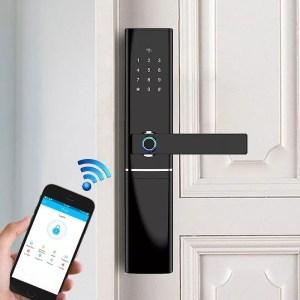 Door Lock with fingerprint, password and card access