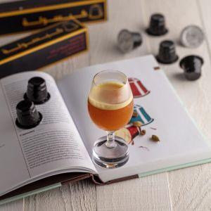 قهوة قطرية مع زعفران إيراني نخبة اولى و هيل هندي