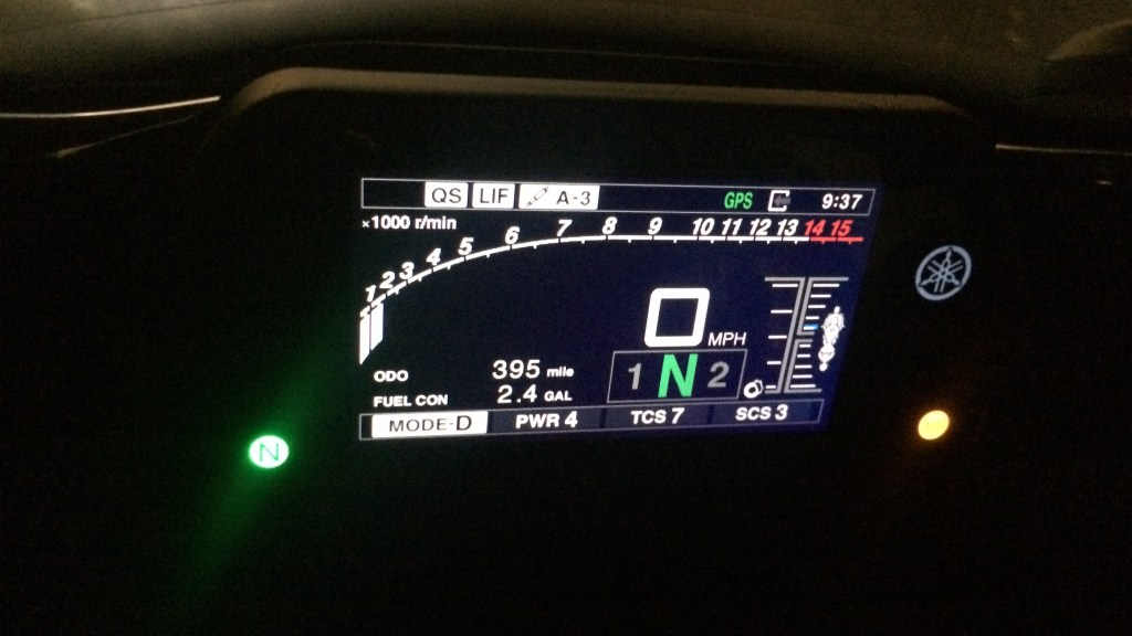 Yamaha R1M Electronic Display