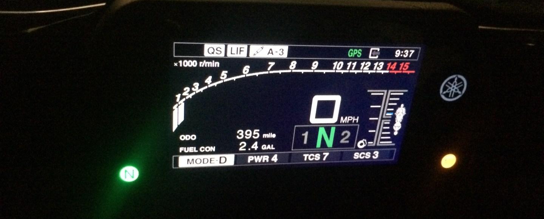 Yamaha R1M Electronic Display