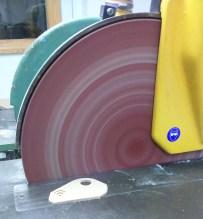 Circular sanding disc