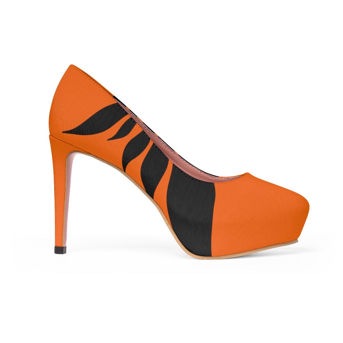 Orange Women/'s Platform Heels