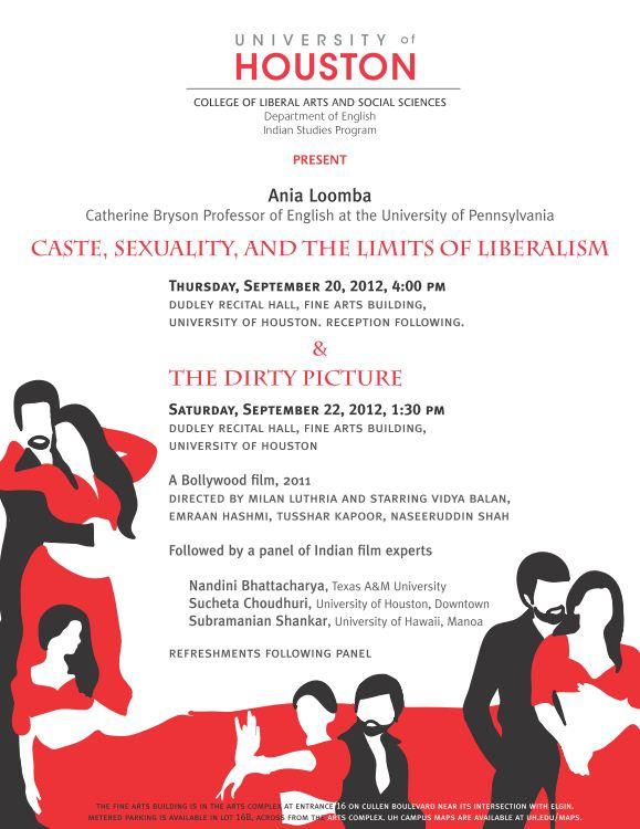 Sept 2012 UH India Studies Program Event Flyer