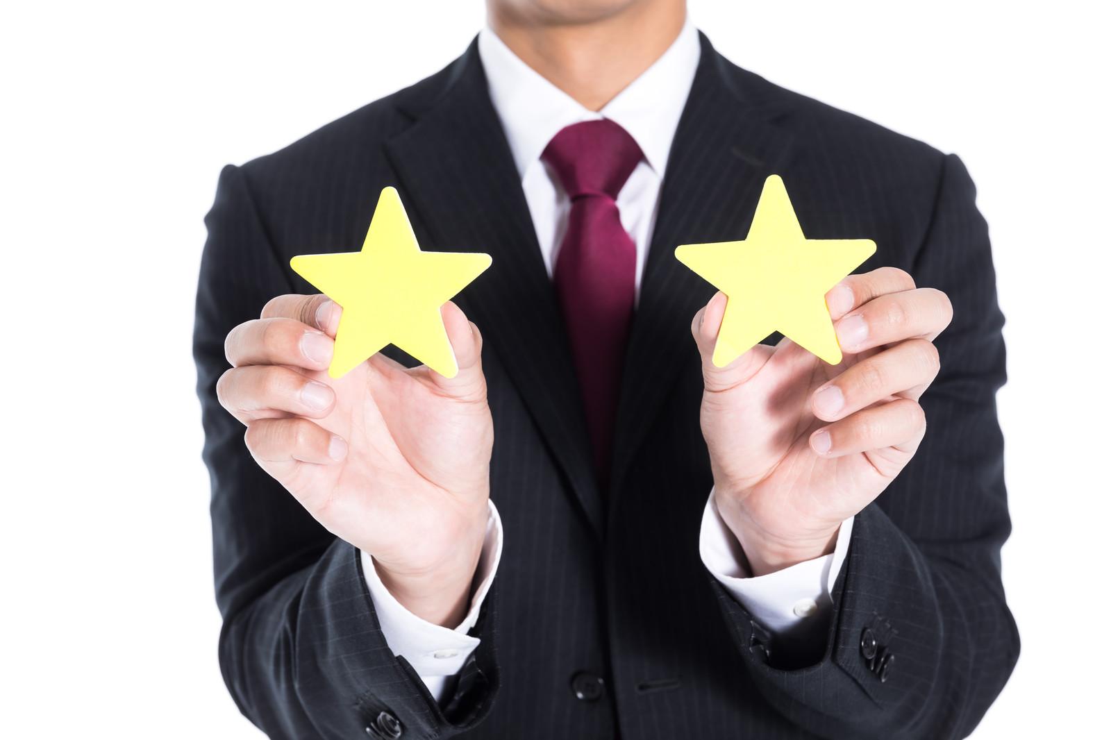 メルカリでの評価と星の数の関係