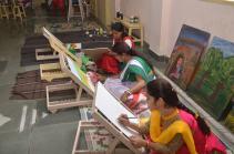 Engrossed in their work