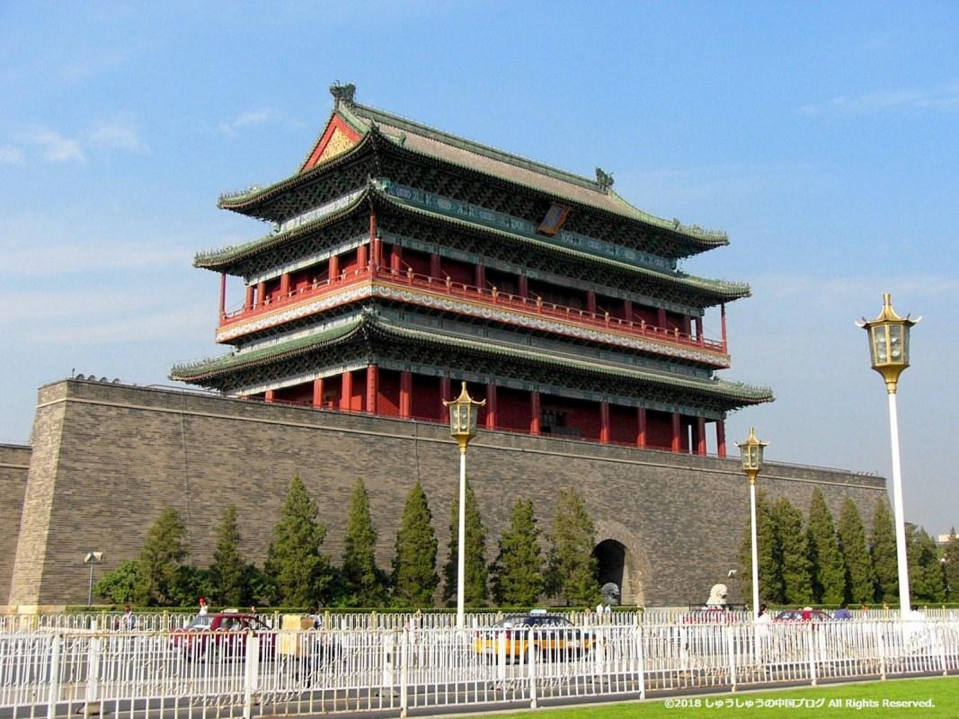 前門(正陽門)の斜めからのショット