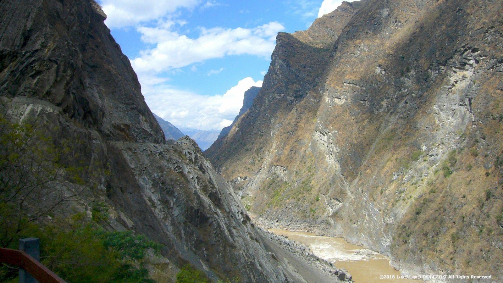虎跳峡と金沙江