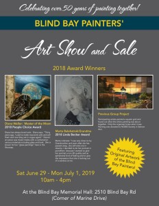Blind Bay Painters Art Show and Sale Poster