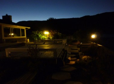 night time at Sandy Beachfront cottage