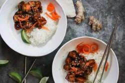 vegan general tso takout-style tofu