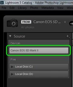 Adobe Lightroom Import Dialog Source