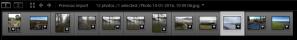 Adobe Lightroom Map Module Filmstrip