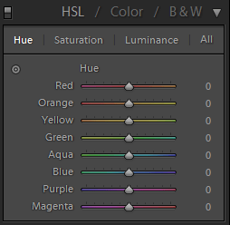 Lightroom Develop HSL Panel