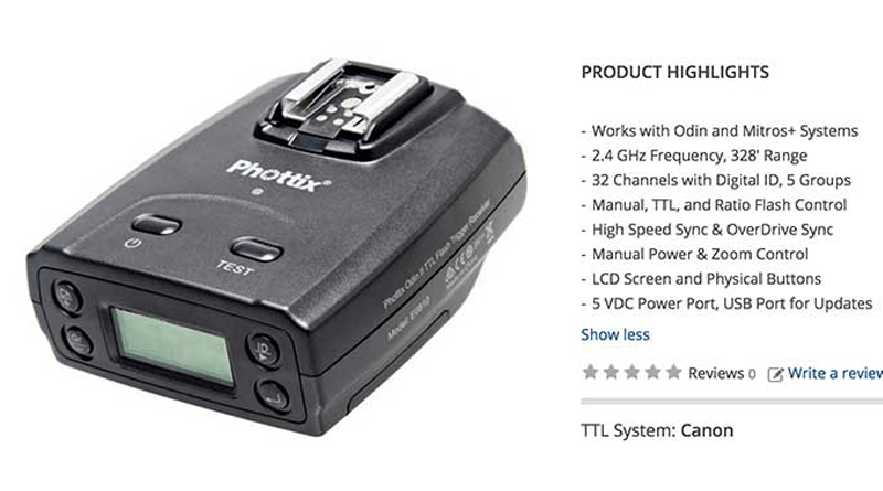 Phottix Odin II TTL Flash Trigger