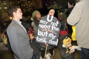 Protesting Rob Ford's budget cuts