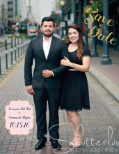 We worked together to design this Save the Date.