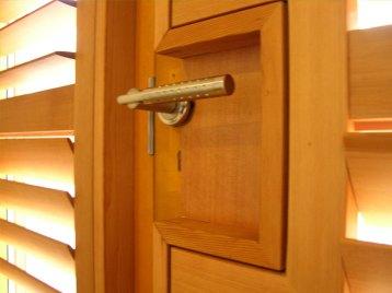 Cut around door handles