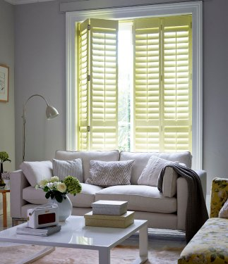 Ducking Yellow Full Height Shutters - Basswood