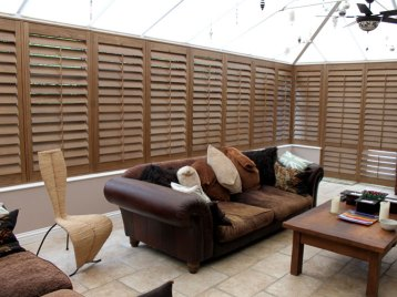 conservatory after plantation shutters have been fitted